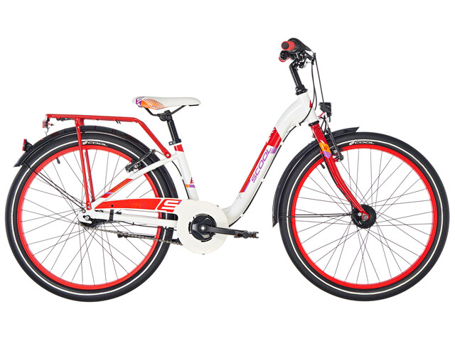 s'cool chiX 24 7-S alloy White/Red